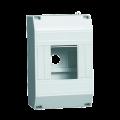 Бокс КМПн 1/4 на 4 модуля навесной 125х79х58 IP20 IEK