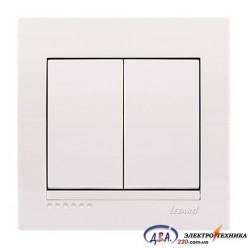 Выключатель 2-кл. белый скрытой  установки  DERIY  702-0202-101