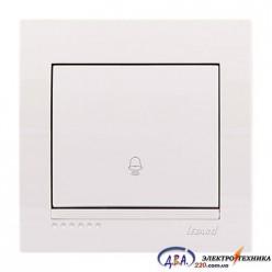 Кнопка звонка белая, скрытой  установки  DERIY  702-0202-103