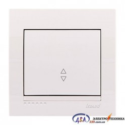 Выключатель проходной 1кл. белый, скрытой  установки  DERIY  702-0202-105