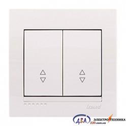 Выключатель проходной 2кл. белый, скрытой  установки  DERIY  702-0202-106