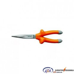 Длиногубцы прямые  диэлектрические 200 мм