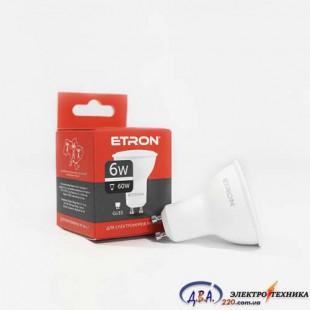 Лампа светодиодная ETRON  Light Power MR16 6W 4200K GU10-1-ELP068