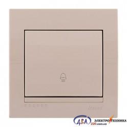 Кнопка звонка крем, скрытой  установки  DERIY  702-0303-103