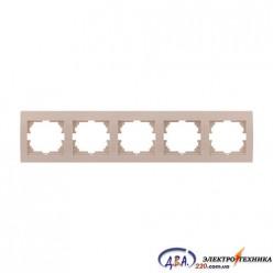 Рамка 5-ая горизонтальная б/вст,  крем  DERIY  702-0303-150