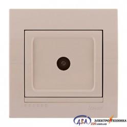 Розетка ТВ проходная , крем, скрытой  установки  DERIY  702-0303-129