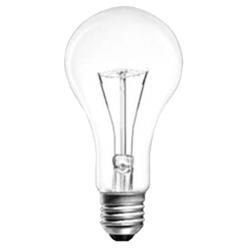 Лампа накаливания ЛОН 300 Вт E27