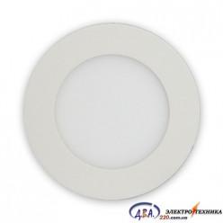 Светильник  LED SLIM-3 3Вт 6400К круг встр. 90мм