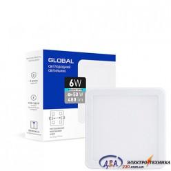 Светильник светодиодный - GLOBAL SP adjustable 6W 4100К(квадрат)