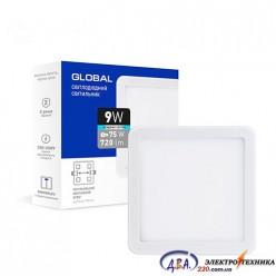 Светильник светодиодный - GLOBAL SP adjustable 9W 4100К(квадрат)