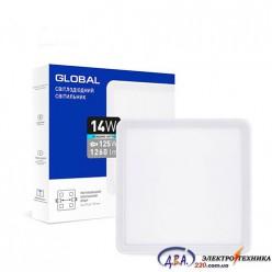 Светильник светодиодный - GLOBAL SP adjustable 14W 4100К(квадрат)