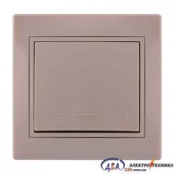 Выключатель одноклавишный MIRA 701-0303-100 крем