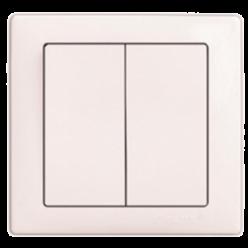Выключатель DELUX WEGA 9023 2-кл. белый