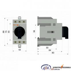 Рубильник модульный 3 полюса 100А I-0230 / 400В