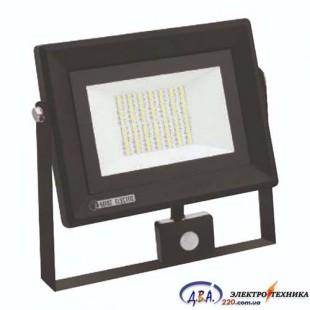 Прожектор с датчиком движения 50W 6400K IP65 4000Lm