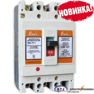 Авт. выкл. ВА77-1-250 3 полюса 80А Icu 25кА 380В