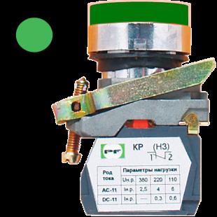 Кнопка ВК-011 НЦИЛЗ 1З  1НО  зеленая ( PF )