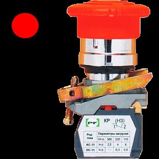 Кнопка ВК-011 КГрК 1Р 1НЗ  красная грибовидная