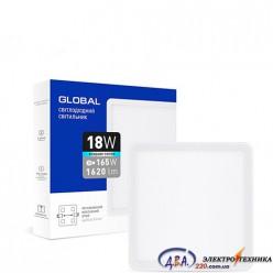 Светильник светодиодный - GLOBAL SP adjustable 18W 4100К(квадрат)