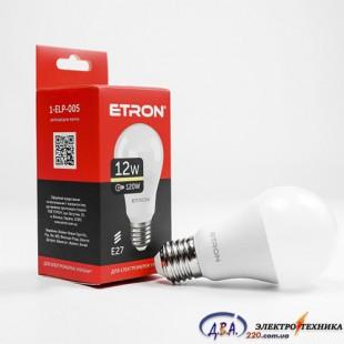 Лампа светодиодная ETRON  Light Power A60 12W 3000K E27 1-ELP-005