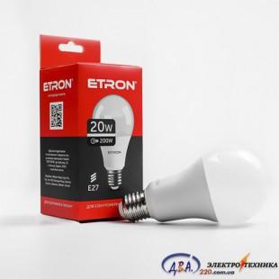 Лампа светодиодная ETRON  Light Power A70 20W 3000K E27 1-ELP-001