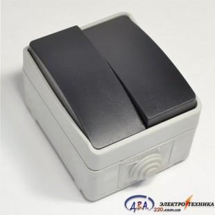 ВС20-2-0-ФСр Выключатель двухклавишный для открытой установки IP54