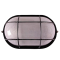 Светильник НПП1402 чорный/овал с решоткой 60Вт IP54 IEK
