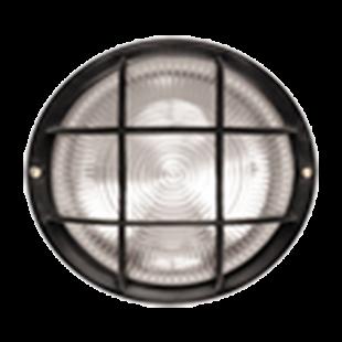 Светильник НПП2602 чорный/круг с решеткой пластик 60Вт IP54 IEK