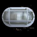 Светильник НПП2603 белый/овал с решеткой пластик 60Вт IP54 IEK