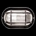 Светильник НПП2603 чорный/овал с решеткой пластик 60Вт IP54 IEK