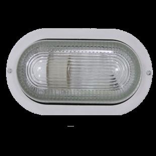 Светильник НПП2603А белый/овал пластик 60Вт IP54 IEK