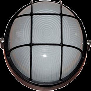 Светильник НПП1102 чорный/круг с реш. 100Вт IP54 IEK