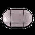 Светильник НПП1202 чорный/овал с реш. 100Вт IP54 IEK