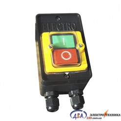 Кнопка РВ2-LA32HND, NO+NC зеленая+красная с подсветкой