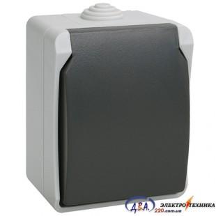 РСб20-3-ФСр Розетка одноместная с з/к для открытой установки с крышкой IP54