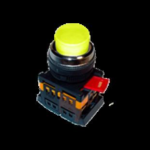 Кнопка ABLFP-22 жолтая d22мм неон/240В 1з+1р IEK
