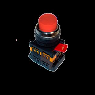 Кнопка ABLFP-22 красная d22мм неон/240В 1з+1р IEK