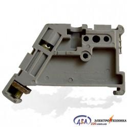Фиксатор (ограничитель) пластиковый на DIN - рейку