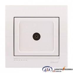 Розетка ТВ проходная , белая, скрытой  установки  DERIY  702-0202-129