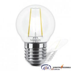 LED лампа MAXUS (филамент), G45, 4W, яркий свет,E27 (1-LED-546) 4100К