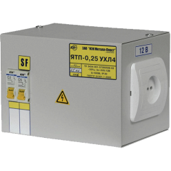 Ящик с понижающим трансформатором ЯТП-0.25 220/12-2   36 УХЛ4 IP30, ІЕК