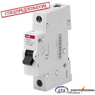 Автоматический выключатель 1р 63А С 4,5Ка АВВ  Basic M