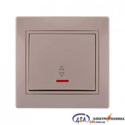 Выключатель проходной с подсветкой крем 701-0303-114 MIRA
