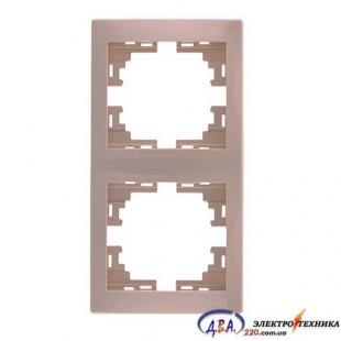 Рамка 2-я вертикальная крем 701-0303-152 MIRA