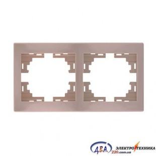 Рамка 2-я горизонтальная крем 701-0303-147 MIRA