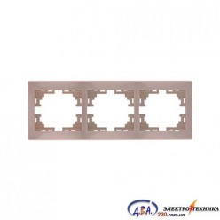 Рамка 3-я горизонтальная крем701-0303-148 MIRA