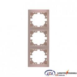 Рамка 3-я вертикальная крем 701-0303-153 MIRA