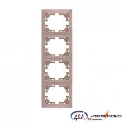 Рамка 4-я вертикальная крем 701-0303-154 MIRA