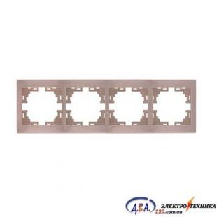 Рамка 4-я горизонтальная крем 701-0303-149 MIRA