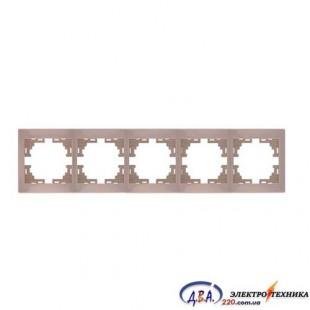 Рамка 5-я горизонтальная крем 701-0303-150 MIRA